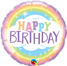 "Birthday Rainbow Foil Balloon (18"") 1pc"